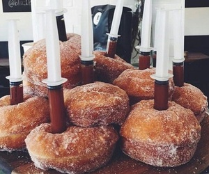 food, donuts, and love image