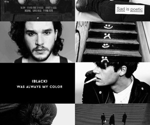black, john snow, and stark image