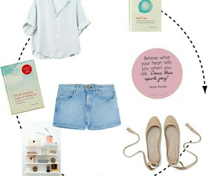 book, clothes, and Polyvore image