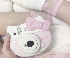 hello kitty, pastel, and pink image