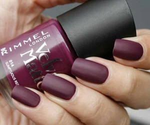 nailpolish, nails, and wine red image
