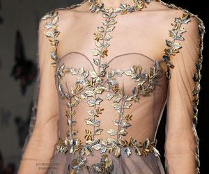 Couture, gown, and detail image