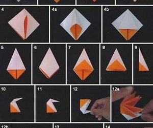 origami, flower, and tutorial image