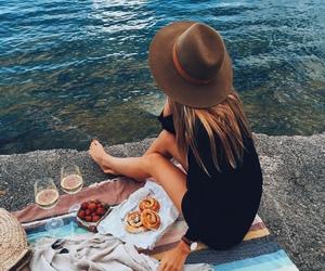 summer, food, and ocean image