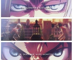 anime, attack on titan, and titan image