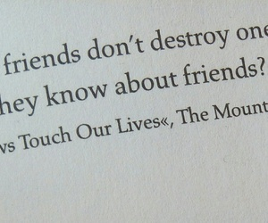 friendship, quote, and the mountain goats image