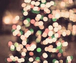 lights, tree, and christmas image