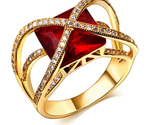 beautiful, jewellry, and red image