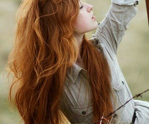 girl, red hair, and ginger image