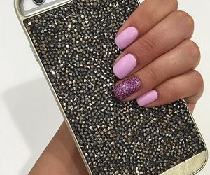 girls, nails, and iphone 6 image