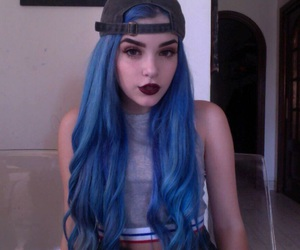 blue, tumblr, and hair image
