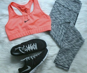 leggings, workout, and nike image