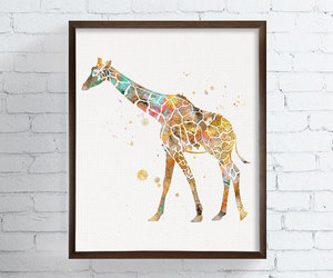 african animals, etsy, and animal prints image