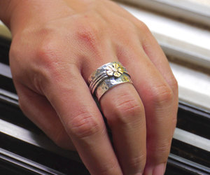 etsy, engagement rings, and sterling silver image