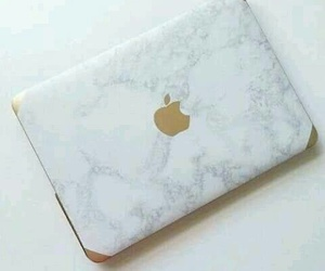 apple, gold, and macbook image