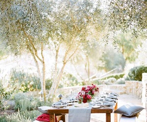 garden, outdoor, and picnic image