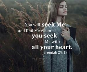 god, seek, and bible image