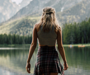 braid, mountains, and walk image