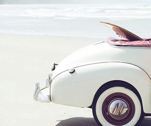 beach, car, and summer image