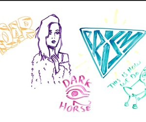 katy perry, roar, and dark horse image