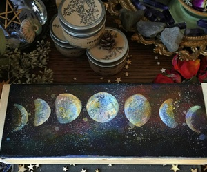 magic, moon phases, and witchery image