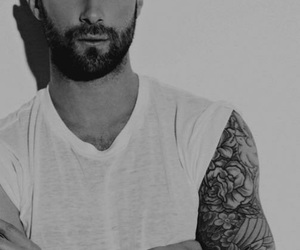 adam levine, boy, and black and white image
