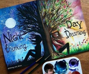 night, day, and art image