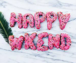 donuts, happy, and weekend image