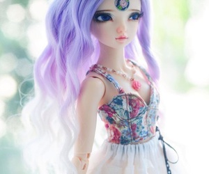 colorful, dolls, and dress image