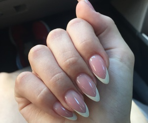 french, nails, and stiletto image