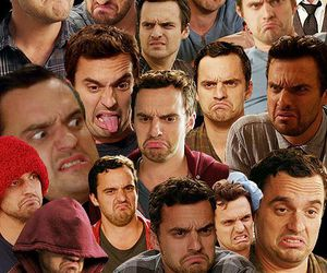 new girl, nick miller, and face image