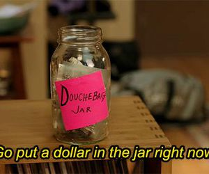 new girl, jar, and funny image