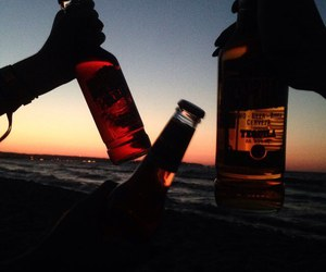 friends, beer, and summer image