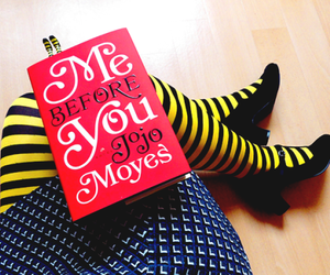 book, me before you, and movie image