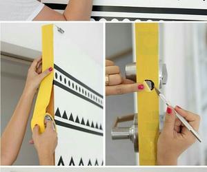 diy, door, and white image