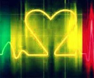 heart, reggae, and vibe image