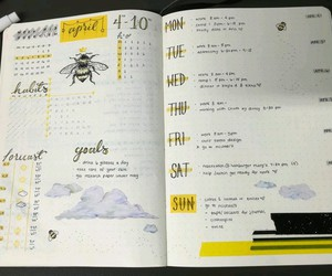 bullet, journal, and school image