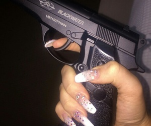 nails, gun, and ghetto image