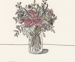 flowers, art, and quotes image
