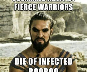 game of thrones, funny, and warrior image