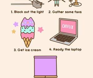 cat, ice cream, and summer image
