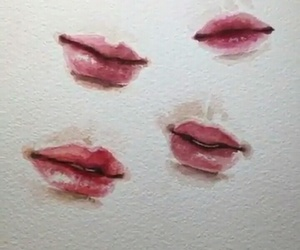 art, lips, and painting image