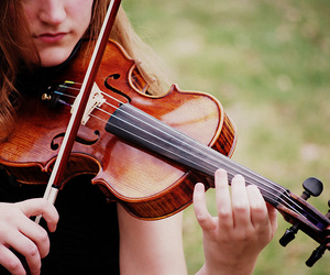 violon, playing violon, and my lovely friend carolyn image