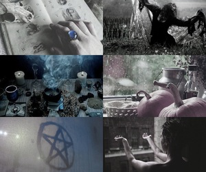 aesthetic, rain, and wicca image