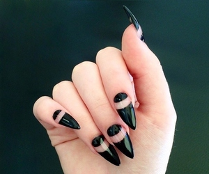 hand, nails, and stiletto nails image
