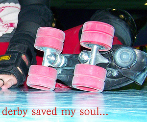 roller derby, roller skates, and whip it image