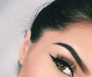 eyebrows, eyes, and girl image