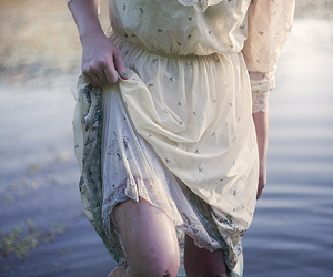 dress, water, and legs image