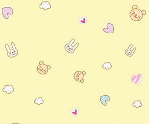 wallpaper, yellow, and cute image