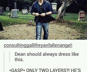 supernatural, tumblr, and dean image